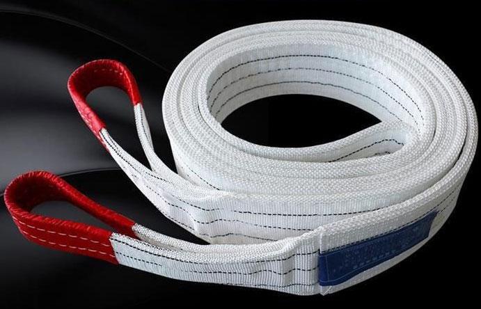 双扣白色扁平吊装带